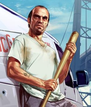 Trevor Philips - Trevor Philips in a promotional artwork for Grand Theft Auto V