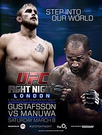 A poster or logo for UFC Fight Night: Gustafsson vs. Manuwa.