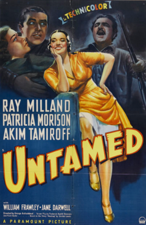 Untamed (1940 film) - Theatrical release poster
