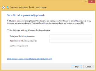 BitLocker - Image: Windows To Go Bitlocker