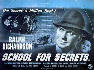School for Secrets - British quad poster