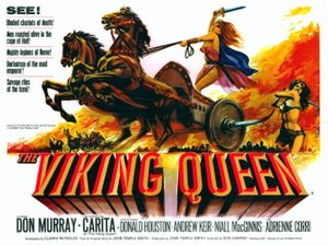 The Viking Queen - UK quad poster by Tom Chantrell