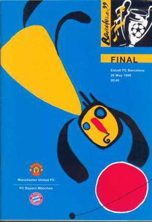 1999 UEFA Champions League Final - Match programme cover