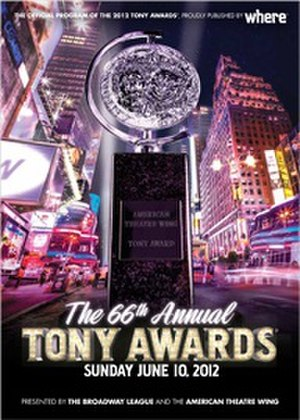 66th Tony Awards - Cover of the Official Program for the 66th Annual Tony Awards