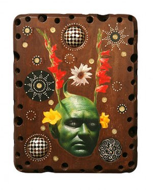 Ashley Bickerton - Green Head with Inlay 1, 2007
