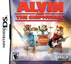Alvin and the Chipmunks (video game) - Nintendo DS cover featuring Alvin (right), Simon (left), and Theodore (center).