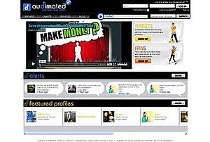 Audimated - Image: Audimated.com Screenshot