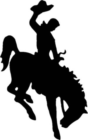 Clayton Danks - Wyoming's Bucking Horse and Rider Logo modeled after Danks riding Steamboat