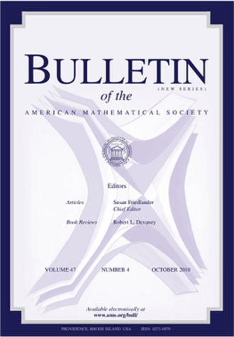 Bulletin of the American Mathematical Society - Image: Bulletin of the American Mathematical Society cover