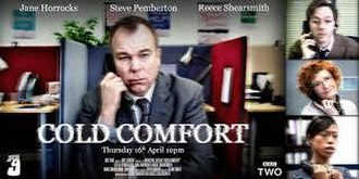 Cold Comfort (Inside No. 9) - Episode poster, featuring Steve Pemberton as Andy, Reece Shearsmith as George, Jane Horrocks as Liz and Nikki Amuka-Bird as Joanne