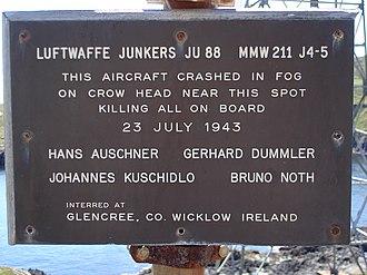 Dursey Island - Image: Crashed ju 88 dursey island