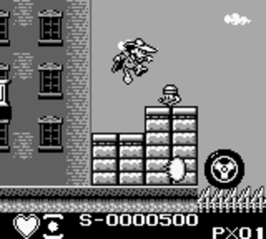 Darkwing Duck (Capcom) - The Game Boy version contained more stats and scoreboard at the bottom of the screen.