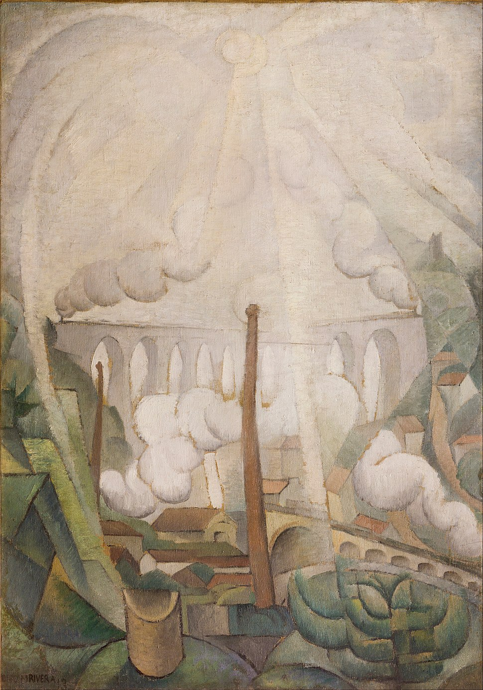 Diego Rivera - The Sun Breaking through the Mist - Google Art Project