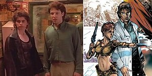Doorways - Artist Stefano Martino did not view the TV pilot before drawing the comic