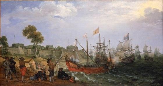 Dutch Squadron attacking Spanish fortress