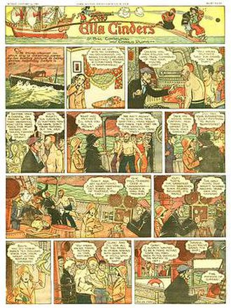William Conselman - Bill Conselman and Charlie Plumb's Ella Cinders (January 26, 1930). To see this image at a readable resolution, go to The Myriad Worlds of Chris Roberson.