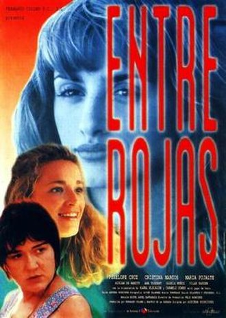 Entre rojas - Theatrical release poster
