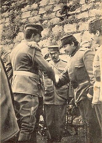 Essad Pasha Toptani - Essad Pasha surrendering Shkodra to Montenegrins