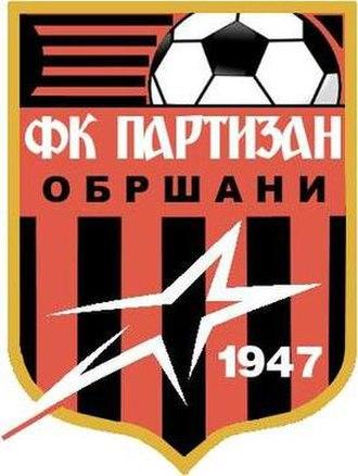 FK Partizan Obršani - Image: FK Partizan Obrsani Logo