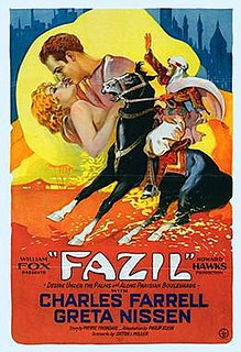 <i>Fazil</i> (film) 1928 film by Howard Hawks