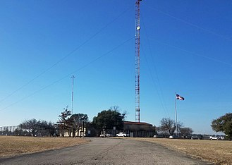 KXAS-TV - KXAS studios and offices (as well as those of co-owned KXTX-TV, and for a time those of radio stations WBAP (AM) and KSCS-FM) were located in this building east of downtown Fort Worth on Barnett Street.