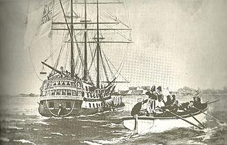 José de San Martín - Arrival of San Martín and Carlos María de Alvear to Buenos Aires, aboard the frigate George Canning.