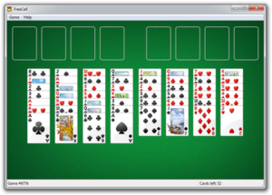 FreeCell on Windows 7
