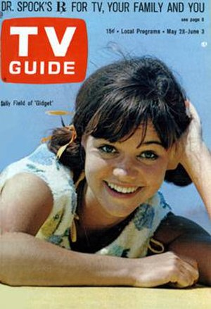 Gidget (TV series) - May 28-June 3, 1966 issue of TV Guide featuring Sally Field; the series had been cancelled by this time, but ratings had significantly improved.
