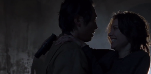 Us (The Walking Dead) - Image: Glenn and Maggie so happy together on The Walking Dead