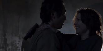 Us (The Walking Dead) - Glenn and Maggie reunite.
