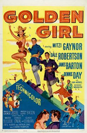 Golden Girl (1951 film) - Theatrical release poster