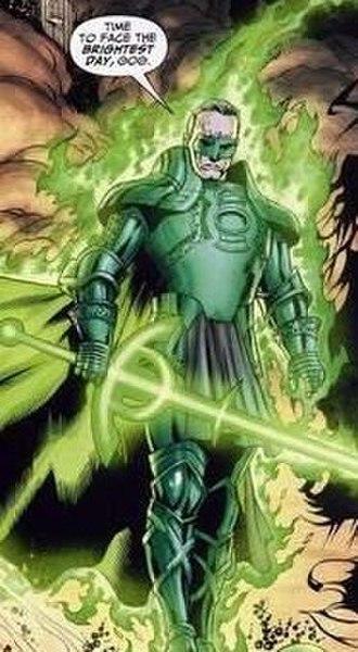 Alan Scott - Alan Scott wearing the armor of his Earth-22 counterpart