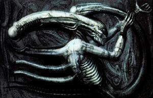 Alien (creature in Alien franchise) - Necronom IV, Giger's 1976 surrealist print that formed the basis for the Alien's design