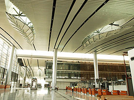 Check in counters at the Hyderabad International Airport at Departures
