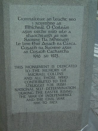Clonakilty - Michael Collins monument
