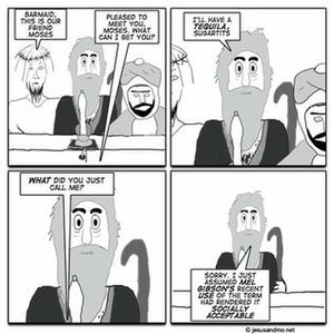 A sample of the comic Jesus and Mo