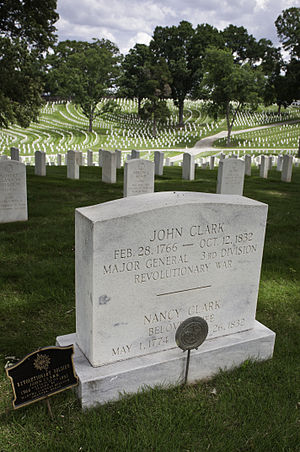 John Clark (Georgia governor) - John Clark's gravestone at the Marietta National Cemetery, Marietta, Georgia