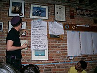 SDS Member leads a strategy training during a Midwest Regional SDS Convention, Jan 2007.