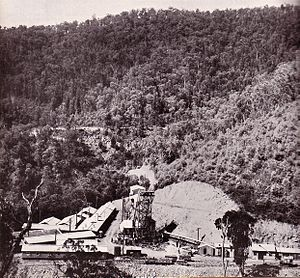 Kiewa Hydroelectric Scheme - Work on the underground Power Station 4 (West Kiewa)