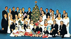 The King Family Show - The King Family on the cover of their 1965 Christmas album