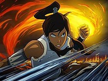 Korra with her arms cross