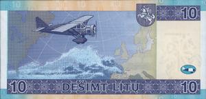 10 litų - Image: LTL 10 reverse (2007 issue)