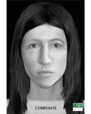 """Little Miss Lake Panasoffkee - Forensic facial reconstruction of """"Little Miss Lake Panasoffkee"""", created in 2012."""