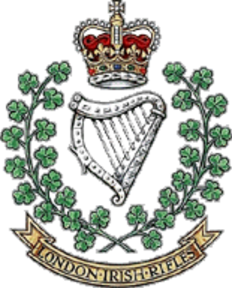 London Irish Rifles - Crest of the London Irish Rifles
