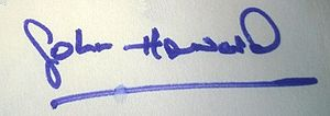 John Howard (British Army officer) - Image: Major John Howard Signature