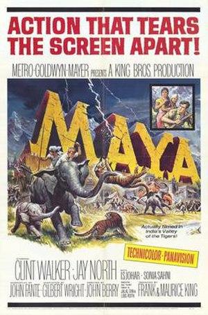 Maya (1966 film) - Image: Maya theatrical release poster
