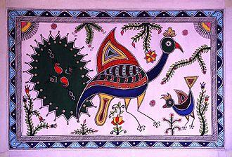 Jhanjharpur - A sample of Madhubani Painting.