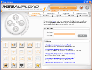 Megaupload - Mega Manager screenshot