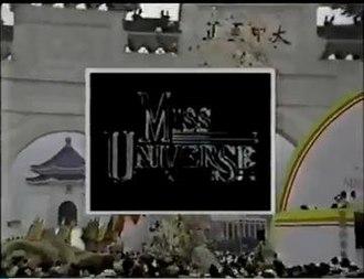 Miss Universe 1988 - Image: Miss Universe 1988 opening titles