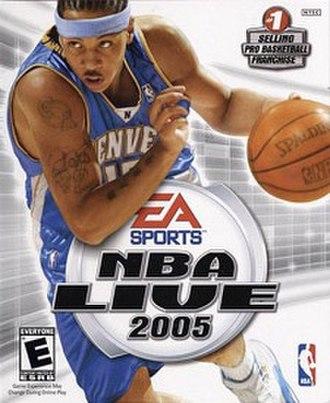 NBA Live 2005 - Cover art